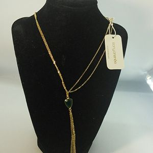 Necklace by Sonya Renee green stone